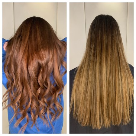 Before and after with colour gels from Redken at the klinik salon London