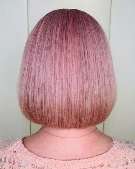 Pink hair called rosegold