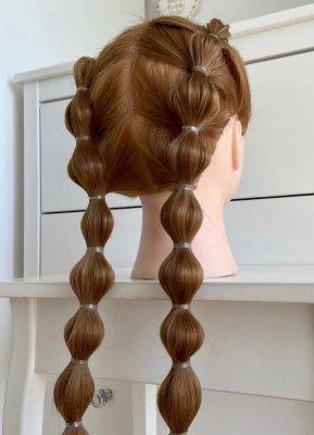 Bubble braid done by Leyla on a dolls head