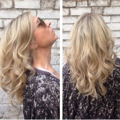Icy highlights using Olaplex in the colourapplication at the klinik hairsalon