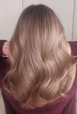 Long dark blonde hair