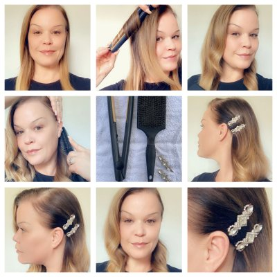 step by step hair guide to do a 1940 wave at the klinik hairdressing