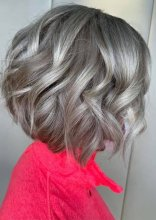 Gorgeous tousled bob by Anna and leyla
