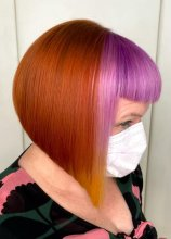 Copper Pink yellow purple hair by Pulpriot at the klinik