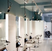 Photo of the klinik salon from outside the premises at night time.